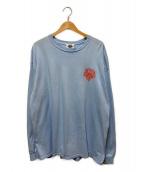 ()の古着「LOGO LONG SLEEVE T-SHIRT」|ライトブルー