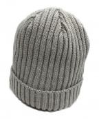 kijima takayuki(キジマタカユキ)の古着「classic cotton knit watch cap」|グレー