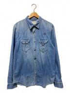 Denim & Supply Ralph Lauren(デニム&サプライ ラルフローレン)の古着「リペア加工デニムシャツ」