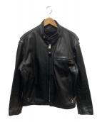 ()の古着「ライナー付きシングルライダースジャケット」 ブラック