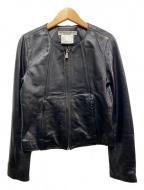 KATHARINE HAMNETT(キャサリンハムネット)の古着「ラムレザージャケット」 ブラック