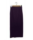 ()の古着「wide rib side slit maxi skirt」 パープル