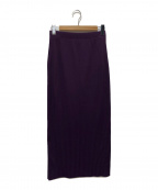 PHEENY(フィーニー)の古着「wide rib side slit maxi skirt」|パープル