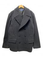 ()の古着「ミリタリーメルトンPコート」|ブラック