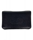 ()の古着「card wallet flat」|ブラック