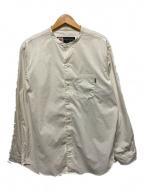 CHARI & CO NYC(チャリアンドコーニューヨーク)の古着「BAND COLLAR SHIRTS」 ホワイト