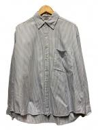 AURALEE(オーラリー)の古着「オーバーサイズボタンダウンシャツ」|ブルー×ホワイト