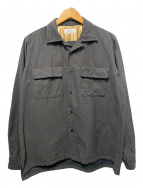 ()の古着「SEMI OPEN COLLAR SHIRTS」|ブラック