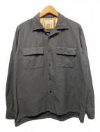 riprap(リップラップ)の古着「SEMI OPEN COLLAR SHIRTS」 ブラック