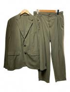 green label relaxing(グリーンレーベルリラクシング)の古着「ウォッシャブルトロ2Bセットアップ」|グリーン