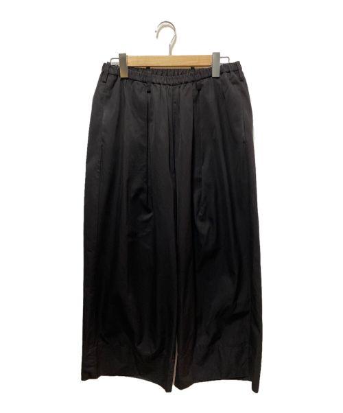 Lui's(ルイス)Lui's (ルイス) クロップドワイドパンツ ブラック サイズ:Мの古着・服飾アイテム