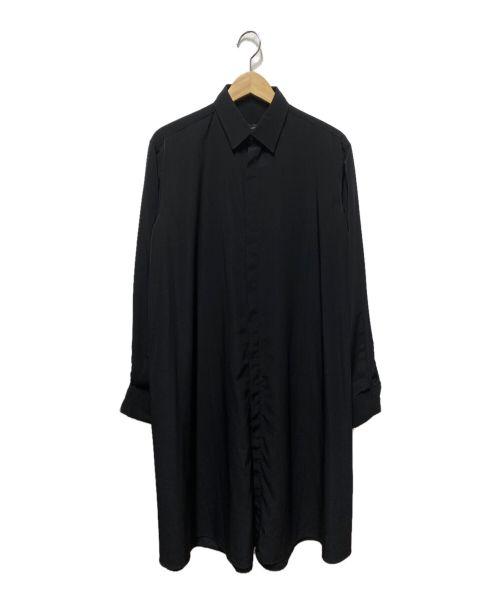 LAD MUSICIAN(ラッドミュージシャン)LAD MUSICIAN (ラッドミュージシャン) FLARE LONG SHIRT ブラック サイズ:44の古着・服飾アイテム