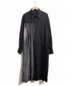 YOHJI YAMAMOTO(ヨウジヤマモト)の古着「ロングプリーツシャツ」|ブラック