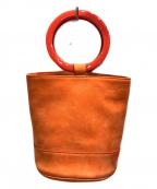 SIMON MILLER(サイモンミラー)の古着「ラウンドハンドルハンドバッグ」|オレンジ