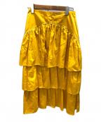 SEE BY CHLOE(シーバイクロエ)の古着「ティアードロングスカート」|シトラスイエロー