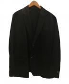SOLIDO(ソリード)の古着「度詰め天竺テーラードジャケット」|ブラック