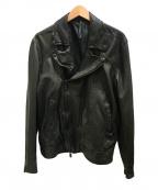 blackbarrett(ブラックバレット)の古着「ダブルライダースジャケット」 ブラック