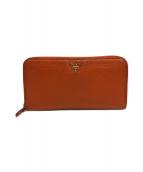 ()の古着「ラウンドファスナー長財布」|オレンジ