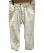 DIOR HOMME(ディオール オム)の古着「テーパードパンツ」 ホワイト