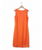 Maison Margiela 4(メゾンマルジェラ4)の古着「シルク混バックスリットオープンノースリーブワンピース」 オレンジ