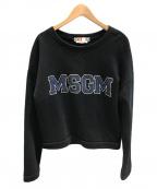 MSGM(エムエスジーエム)の古着「ロゴプリントスウェット」|ブラック