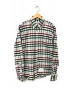 ()の古着「チェックシャツ」|ブラウン×グリーン