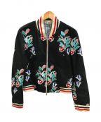 Thom Browne(トムブラウン)の古着「刺繍ジップジャケット」|ブラック