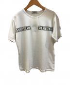 GIANNI VERSACE(ジャンニヴェルサーチ)の古着「[OLD]メデューサ刺繍ジャージーカットソー」|ホワイト