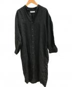 INDIVIDUALIZED SHIRTS(インディビジュアライズドシャツ)の古着「リネンワンピース」|ブラック