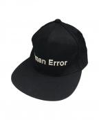 UNDERCOVER(アンダーカバー)の古着「HUMAN ERRORキャップ」|ブラック