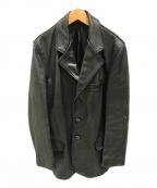 Schott()の古着「レザーカーコートジャケット」|ブラック