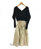CELFORD(セルフォード)の古着「ドッキングワンピース」|ブラック×ベージュ