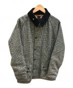 Babour(バブアー)の古着「Hound's Tooth CHECK WOOL Beauf」|グレー