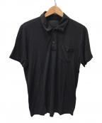 PRADA(プラダ)の古着「シルク混ポロシャツ」 ブラック