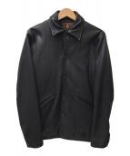 ()の古着「レザーコーチジャケット」 ブラック