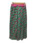THOMAS MAGPIE (トーマス マグパイ) KEYプリントロングプリーツスカート グリーン サイズ:38:7800円