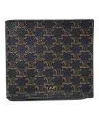 CELINE()の古着「2つ折り財布」 ブラウン