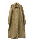 ()の古着「比翼コート」 ベージュ