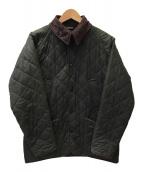 ()の古着「オイルドキルティングジャケット」 オリーブ