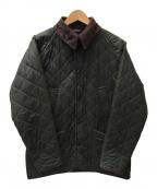 Barbour()の古着「オイルドキルティングジャケット」|オリーブ
