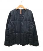 YOSOOU(粧ウ ヨソオウ)の古着「ノーカラーダウンジャケット」|ネイビー
