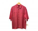 MANDO(マンドー)の古着「ストライプシャツ」|レッド