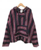 oland(-)の古着「メキシカンパーカー」|ネイビー×ピンク