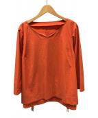 ()の古着「サイドレースアップブラウス」|オレンジ