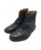 Trickers(トリッカーズ)の古着「Stow Full-Grain Leather Brogue」|ブラック