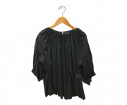 COMME des GARCONS(コムデギャルソン)の古着「S/Sブラウス」|ブラック