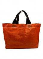 ()の古着「PVCトートバッグ」 オレンジ