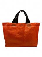 Herve Chapelier()の古着「PVCトートバッグ」|オレンジ