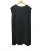 DUAL VIEW(デュアル ヴュー)の古着「リネンノースリーブワンピース」 ブラック