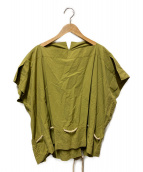 ()の古着「ノースリーブドロ-コードブラウス」|オリーブ